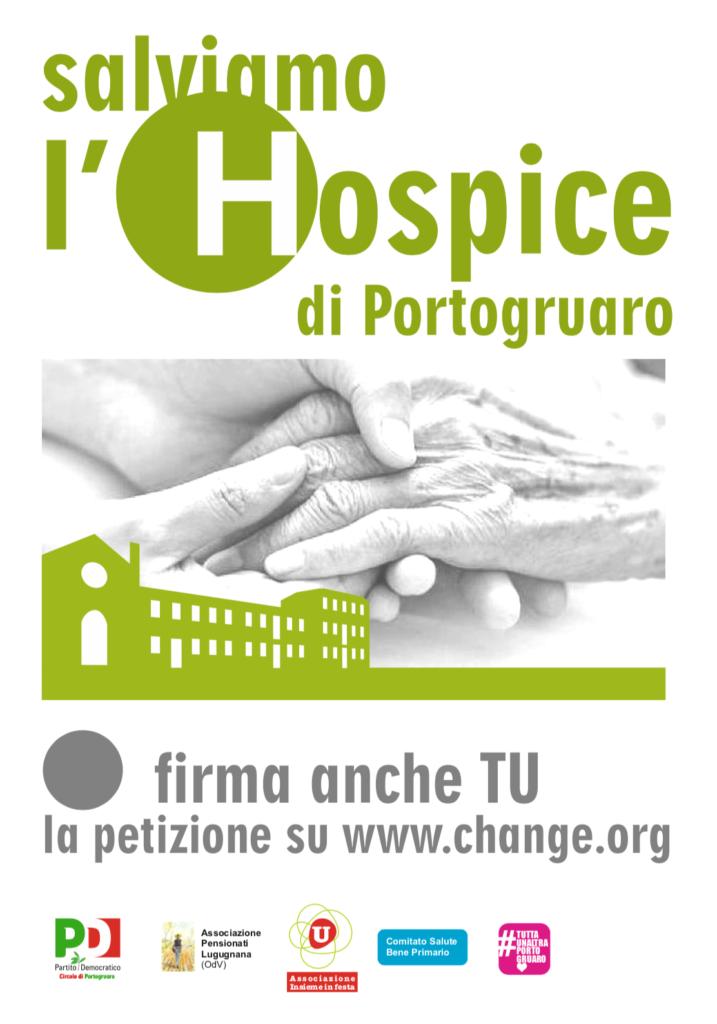 Salviamo l'Hospice di Portogruaro - manifesto campagna